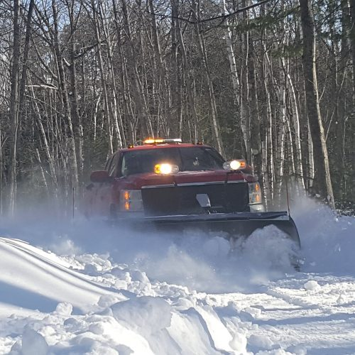 red truck plowing 04